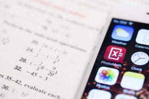 PhotoMath-icon-on-mobile-screen